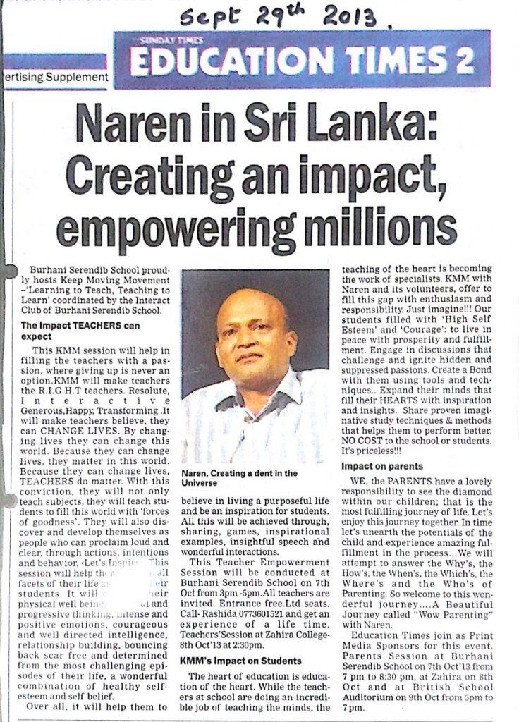 Naren in Sri Lanka